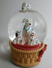1996 Vintage The Disney Store 101 Dalmatian Snow Globe Plays Playful Melody