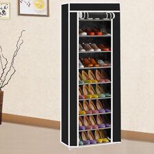 10 Tiers Shoe Rack Shelf Storage Closet Organizer Cabinet Dustproof Cover