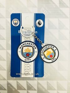 Manchester City FC key chain / Logo keyring double side great logo