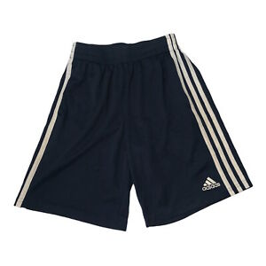 Adidas Boys Sports Shorts Blue Size: Medium 10-12 Side Pockets Gym Activewear