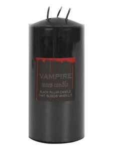 Candle Vampire Tears Multi Wick Pillar Large Black 7x15x7cm