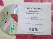 John Legend featuring Andre 3000 – Greenlight Columbia Records Promo CD Single