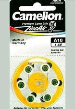 ORIGINAL A10  , PR70  1.4V  Zinc air  Hearing aid BATTERIES  by Camelion  x 6