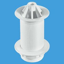 """McALPINE 1 1/4"""" Urinal Waste  3 1/2"""" Tail Domed Top Urinal Waste White WU10"""