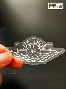 Air Dior sticker. Laptop decor. iMac, vehicle sticker.