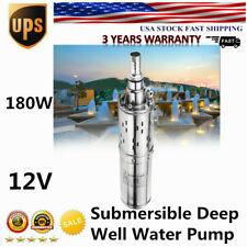 Dc 12V 180W Submersible Water Pump max Flow 1.2M³/H Solar Deep Well Pump