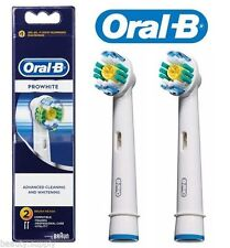 2x Oral-B ProWhite/ProBright Cleaning and Whitening Electric Toothbrush Heads