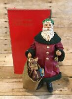 Vintage Clothtique by Possible Dreams Santa 1987 With Box Used