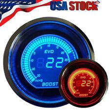 52mm Digital Evo Gauge Boost Vacuum Turbo Meter Blue/Red Smoke Led Psi Us 2020