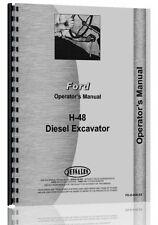 Ford H48 Excavator Operators Manual