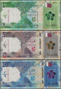 Qatar 3 NOTE SET PNew B219-B221 16 Riyal - 1 5 10 Riyal 2020 @ EBS