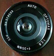 Pentax k mount Optomax / Tokina 35 mm f2.8 Full Frame/apsc