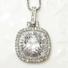 "5.12 Ct Lab Diamond Ideal Cut Solitaire Pendant Necklace 18"" Women Jewelry A106"