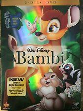 Disney's Bambi (DVD, 2011, 2-Disc Set) NEW!!