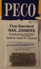 PECO SL-110 HO Code 83 METAL Rail Joiners 24 Pk (was #SL8310)  MODELRRSUPPLY-com