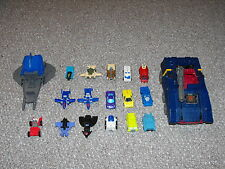 G1 Transformers Micromaster Lot of 16 Figures & 2 Vehicles for Parts or Repair