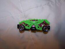 MATTEL INC HOT WHEELS GREEN DINOSAUR CAR NEON DIE CAST