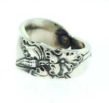 1953 White Orchid Silver Spoon Ring
