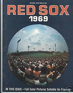 1969 Boston Red Sox Yearbook Ex+ Carl Yastrzemski/Tony Conigliaro/Ted Williams