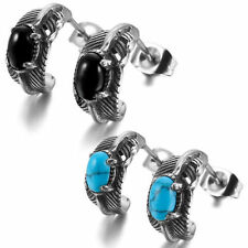 Turquoise Stainless Steel Stud Fashion Earrings