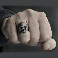 Zinc Alloy Material Skull Pattern Biker Rock Roll Gothic Punk Men Jewelry Rings