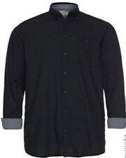 NEU Herren Langarm Polo Shirt marine blau 3 Knöpfe Kragen Große Größe 60//62 3XL