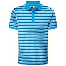Callaway Golf Mens Fine Line Striped Polo Cloissone Med