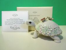 Lenox Summer Garden Turtle Artist Parvaneh Holloway sculpture New n Box Coa