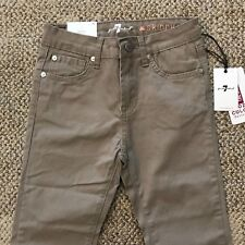 7 For All Mankind Girls The Skinny Pants Jeans Stone Beige Size 12 7FGB3103