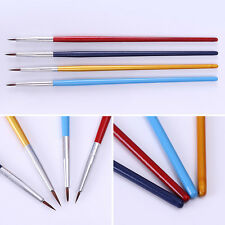 4Pcs/set Acrylic French Nail Art Pen Brush Painting Drawing Liner Manicure Tools