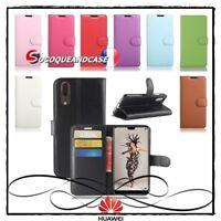 Etui coque housse Cuir XCOLORS PU Leather wallet case Huawei P20 / Lite / Pro