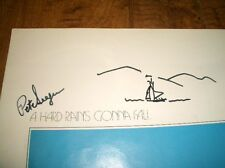 **AUTOGRAPHED** by PETE SEEGER w/BOAT SKETCH - CONCERT for BANGLADESH PROGRAM