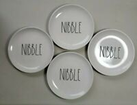 """Rae Dunn Hors d'oeuvres snack Plates Set Of 4 Nibble 6"""" Plates"""