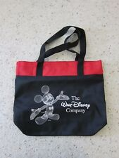 New Walt Disney Company Black Tote Bag with Red Trim Mickey Mouse-disneycareers