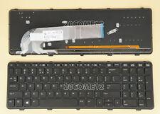 NEW for HP PROBOOK 650 G1 655 G1 KEYBOARD BACKLIT Frame US