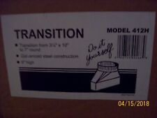 """412H Transition Duct  -  3 1/4"""" x 10"""" to 7"""" Round"""