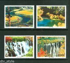 Nine Village Valley set of 4 stamps mnh China 1998-6 lakes waterfalls Jiuzhaigou