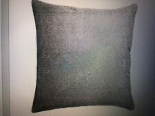 "Donna Karan Home 18"" Embroidered Vilvet Feather Decorative Pillow  Silver"