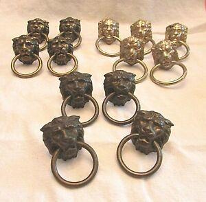 3 Sets, 5, 4, 4, Antique Lion Heads, Ring Pull, Drawer Pulls. Allison/Japan on 5