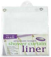 54-Inch-by-78-Inch Premium Weight Stall Shower Curtain Liner, White