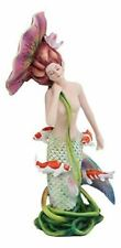 Ebros Sheila Wolk Pulse of The Pond Mermaid by Flower Umbrella and Koi Fishes