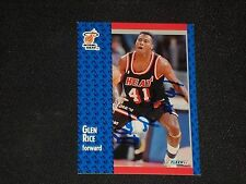 GLEN RICE 1991-92 FLEER SIGNED AUTOGRAPHED CARD #111 MIAMI HEAT