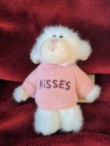 """Boyds Bears Plush Mini Message Kisses PuckerUp Lamb 4"""" Mini"""