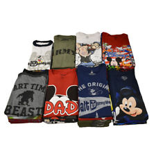 DISNEY Men's Wholesale 24 Pcs Lot - 2nd Quality - Mickey & Licensed T-Shirts