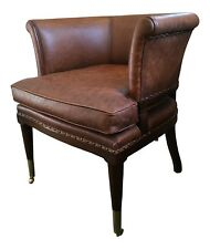 Captains Chair With Tan Leather Upholstery Tym022