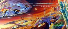AUSTRALIA SPACE STAMPS SHEET 6 2000 MNH SPACECRAFT ROBOTS ASTRONAUTS SHINY FOIL