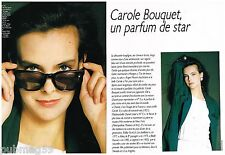 Coupure de presse Clipping 1986 (4 pages ) Carole Bouquet