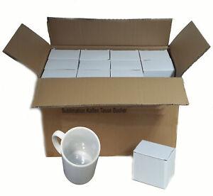 Sublimations Tassen Foto Becher 36 Stück - WEISS -  einzeln verpackt