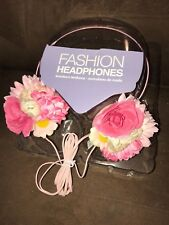 FASHION HEADPHONES STEREO SOUND FLORAL SYLISH TRENDY LIGHTWEIGHT  SUPER CUTE!!!