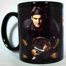 Roger Federer black Coffee MUG CUP Wimbledon tennis champion